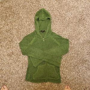 BCBG Grass green zip up cardigan